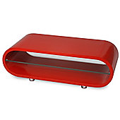 Ovid Lipstick Red and Clear Glass Stand for TVs up to 42 inch