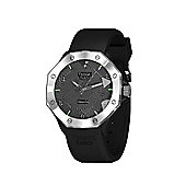Tresor Paris Watch - ISL - Stainless Steel Bezel & Crystal Dial - Black Silicone Strap - 44mm