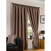 Sicily Ready Made Lined Curtains - Brown