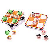 Bigjigs Toys BJ244 Noughts and Crosses (Pirate / Princess and Frog) (One Supplied)