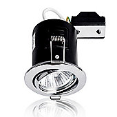 Pack of 10 MiniSun Fire Rated Tiltable Cast GU10 Downlights in Chrome