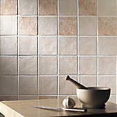 Ashbourne Beige Ceramic Wall Tile 148x148mm Box of 44 (0.96 M² / Box)