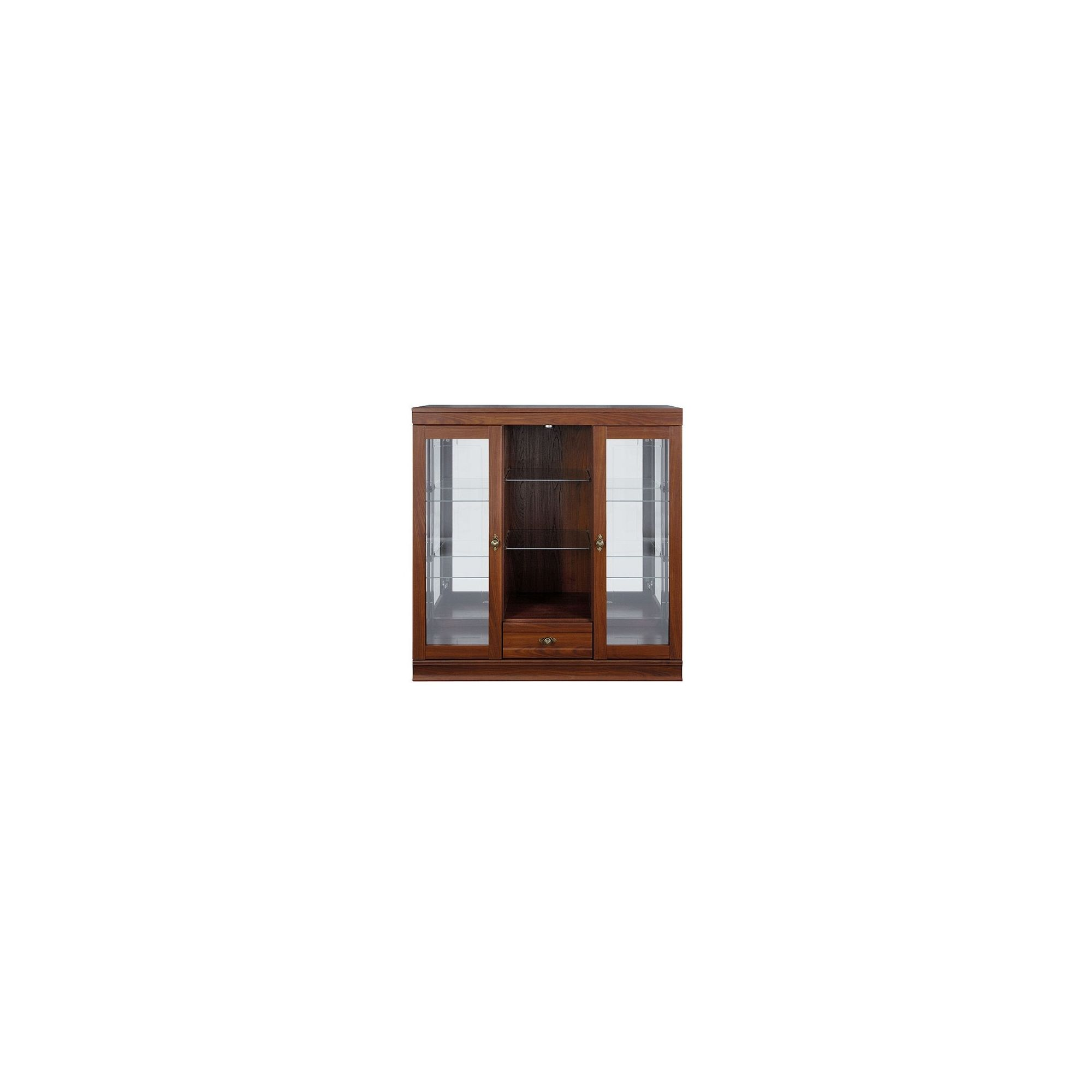Caxton Lincoln 2 Glazed Door / 1 Drawer Display Cabinet in Cherry at Tesco Direct