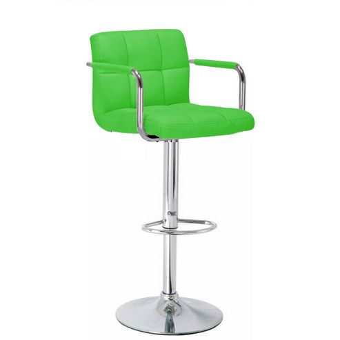 Havana Green Faux Leather Bar Stool