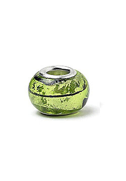 Lime Swirl Slide On Bead