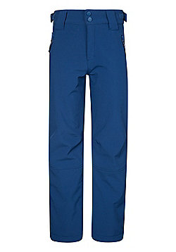 Mountain Warehouse Softshell Youth Ski Trousers - Blue