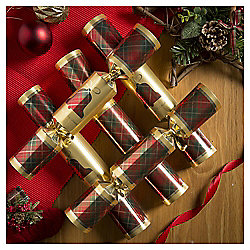 Tartan Christmas Crackers, 12 pack