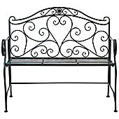 Bentley Garden Wrought Iron Antique Black Bench