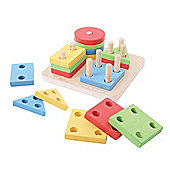 Bigjigs Toys First Four Shape Sorter