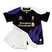2013-14 Liverpool Third Little Boys Mini Kit - Black