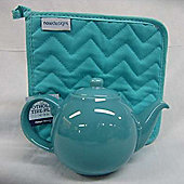 London Pottery Globe Teapot, 4 Cup, Turquoise Blue