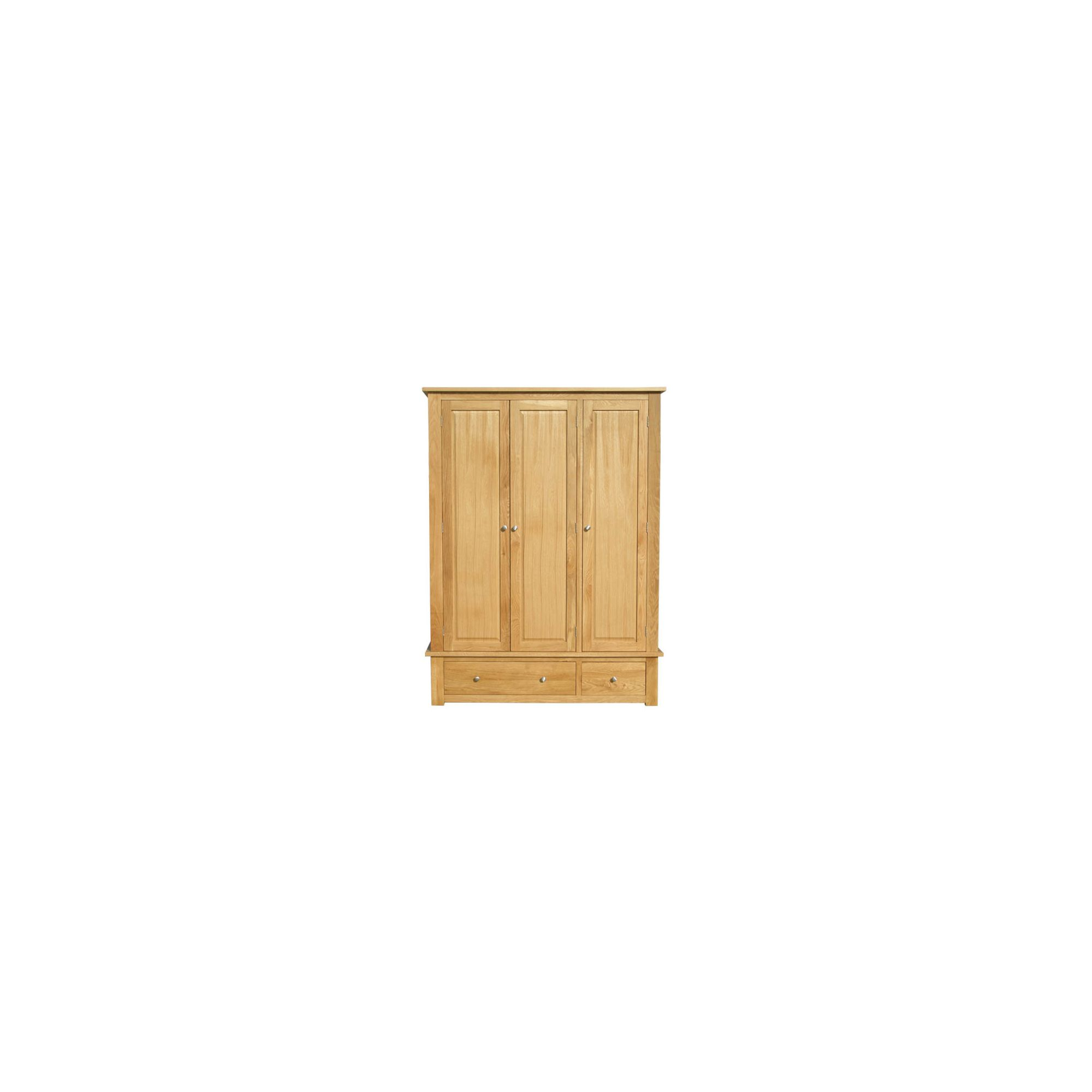 Home Zone Furniture Lincoln Oak 2009 Three Door Wardrobe at Tesco Direct
