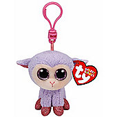 """Ty Beanie Boo Boos 3"""" Key Clip - Lilli the Lamb (Easter Exclusive)"""