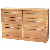 Welcome Furniture Sherwood 6 Drawer Midi Chest - English Oak