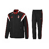 2014-15 AC Milan Adidas Presentation Tracksuit (Black) - Black