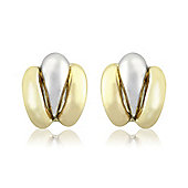 9ct White and Yellow Gold - Stud Earring