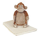 Bobo Buddies Blanket Backpack, Mungo the Monkey