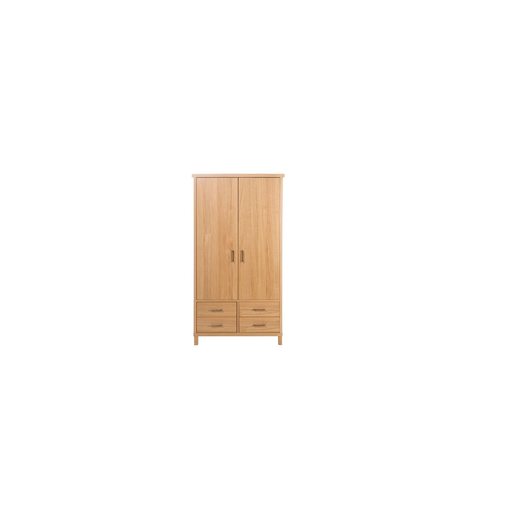 Urbane Designs Vettori Oak Bedroom 2 Door 4 Drawer Wardrobe at Tesco Direct