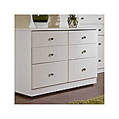 Welcome Furniture Kingston 4 Drawer Midi Chest - White