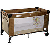 Caretero Simplo Travel Cot (Brown)