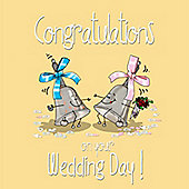 Congratulations On Your wedding day Greetings Card