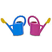 Childrens or Indoor Use 2L Watering Can Plastic With Pouring Spout - Lively Blue