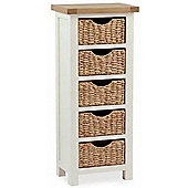 Daymer Painted Tallboy with Baskets - Buttermilk Cream