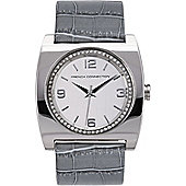 French Connection FCUK Ladies Leather Stone Set Watch FC1027GR
