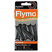 Flymo Plastic Lawn Mower Replacement Blades, FLY014