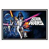 Gloss Black Framed Star Wars A New Hope Poster