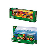 Brio Bundle - Clever Crane Wagon And Railway Mega Crane