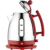 Dualit 1.5L Cordless Jug Kettle - Stainless Steel & Red Trim