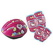 Hello Kitty Kids' Cycle Helmet, Elbow & Knee Pad Set