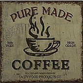 "Alterton Furniture ""Pure Made Coffee"" Plaque"