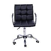 Homcom Swivel Office Chair PU Leather Black