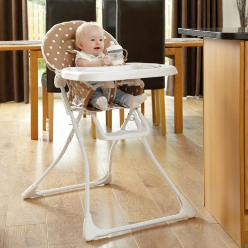 Tippitoes Dotti Highchair in Brown and White