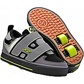 Heelys Dart Grey/Black/Green Heely Shoe - Grey