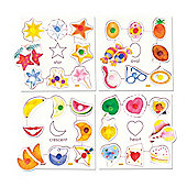 Bigjigs Toys BJ089 Shapes Set 2 Pegged Puzzles (Set of 4)