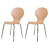 Bistro Chairs Pair Beech Veneer