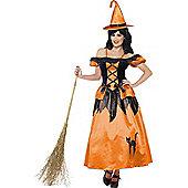 Black & Orange Witch Costume Large