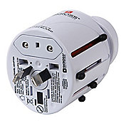 SKROSS Travel adapter plugs World Adapter Asia & Europe Plug - White