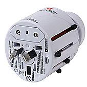 SKROSS Travel adapter plugs World Adapter Asia & Europe Plug - White