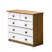Verona Drawer Chest 3 + 2 Colour Antique and White
