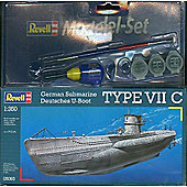 German Submarine Type VII C 1:350 Scale Model Kit - Arts and Crafts