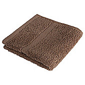Tesco 100% Combed Cotton Face Cloth Mocha