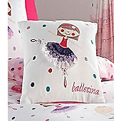 Ballerina Girls Bedroom Cushion