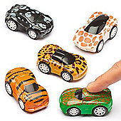 Animal Print Pull Back Cars (Pack of 6)