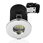 MiniSun IP65 Fire Rated Daylight LED GU10 Bathroom Downlight in Chrome