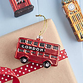 London Bus Christmas Bauble-Christmas Tree Decoration