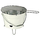 Tesco Small Charcoal Bucket BBQ - Cream